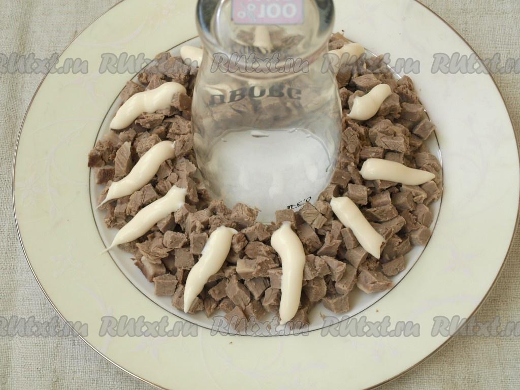 рецепт салата гранатовый браслет с пошаговой