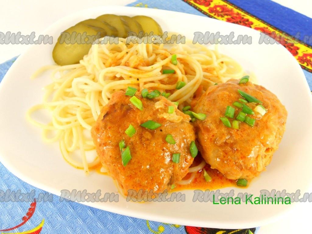 котлеты с картошкой в соусе рецепт с фото