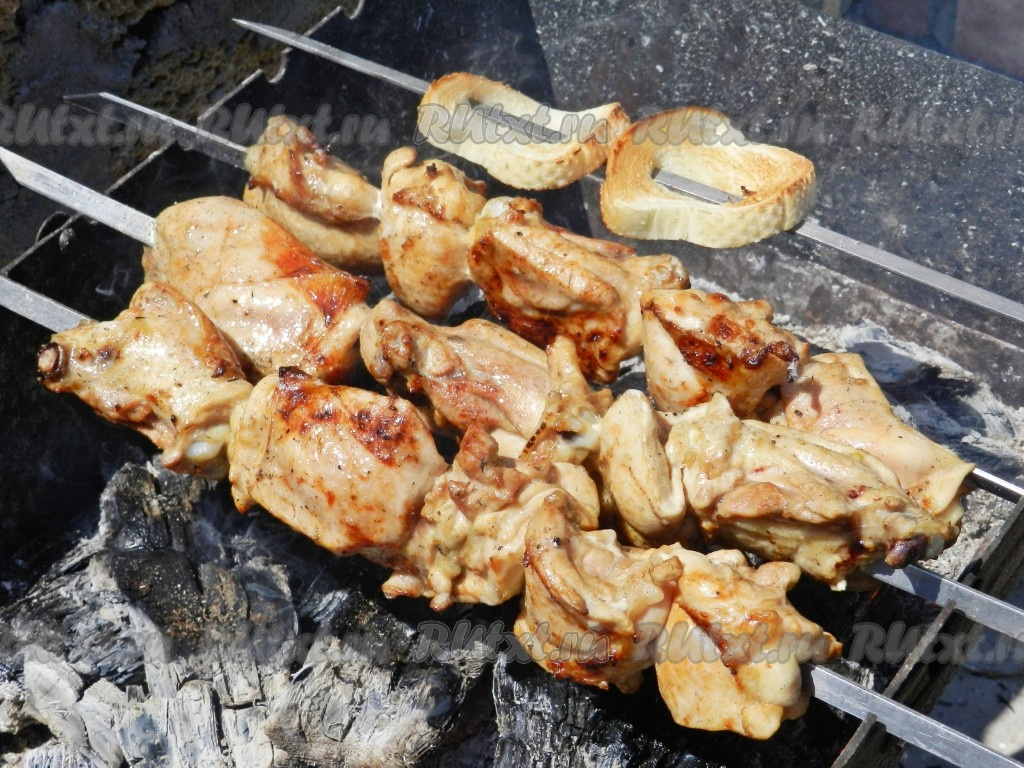 Филе курицы на мангале рецепт