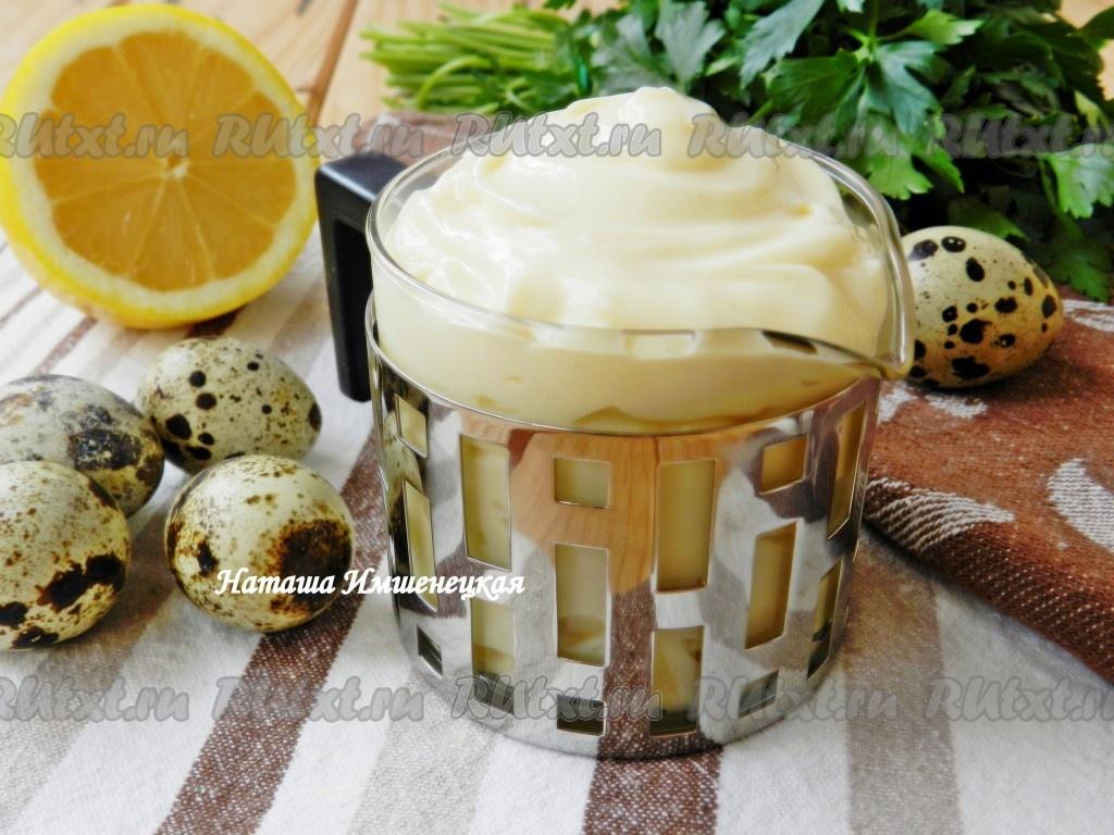 Рецепты майонеза на основе сметаны и яиц