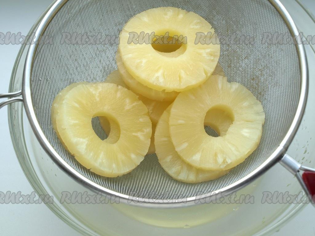 кольца ананаса в слоеном тесте с