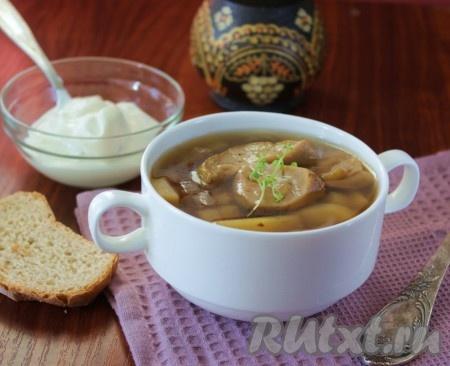 Рецепт фасолевый суп с сушеными грибами