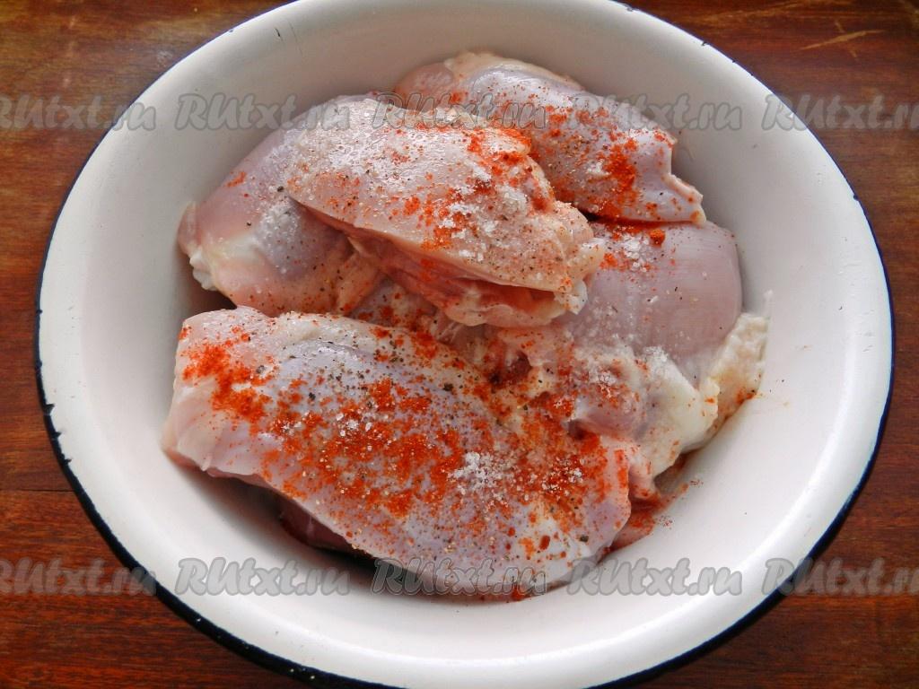 Куриные бедрышки в сливочном соусе рецепт приготовления с
