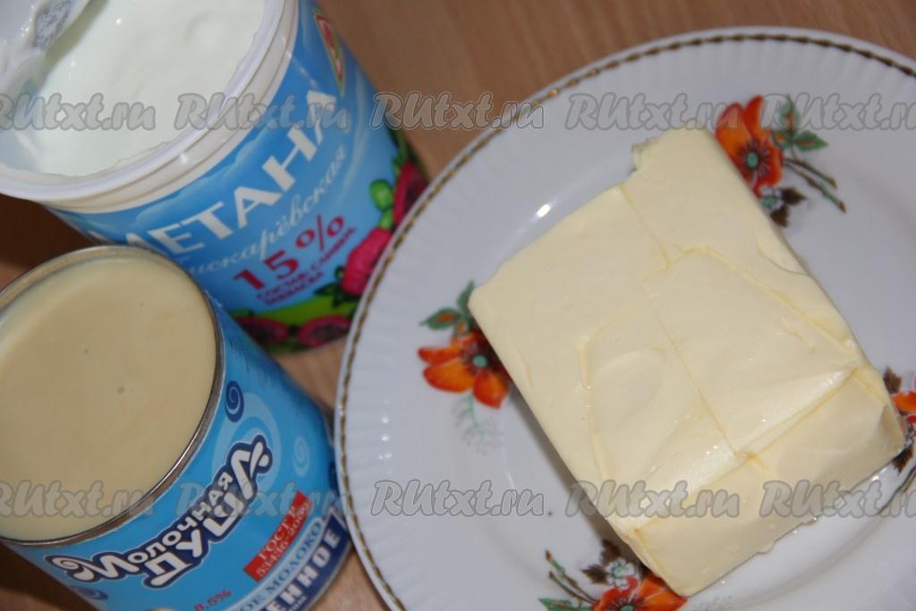 Крем с маслом и сгущенкой для наполеона с фото