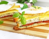 Горячий бутерброд в духовке рецепт