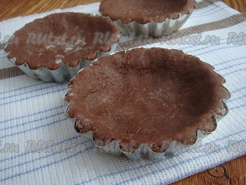 как приготовить шоколадное песочное тесто на корзинки