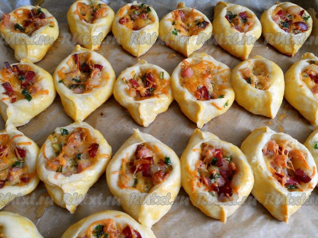 рецепты выпечки из колбасы и сыра