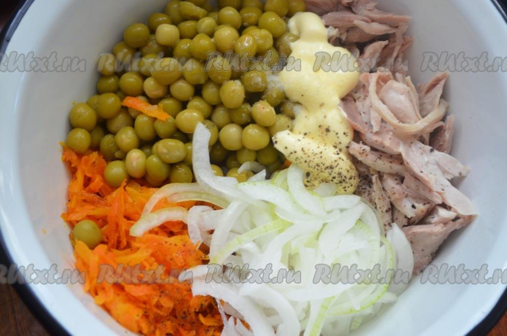 салат купеческий рецепт с фото с курицей