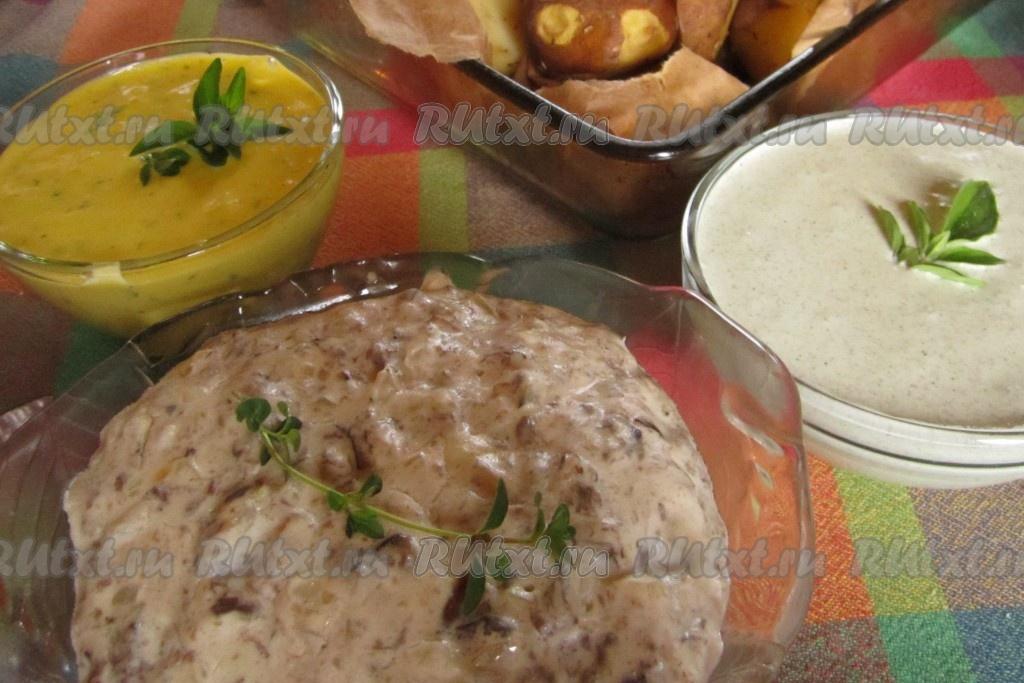 Жареная картошка с подливкой рецепт