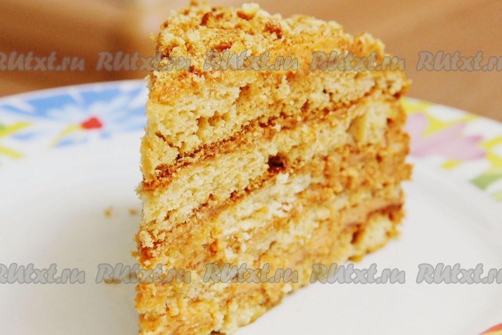 торт из печенья с вареной сгущенкой и сметаной рецепт с фото