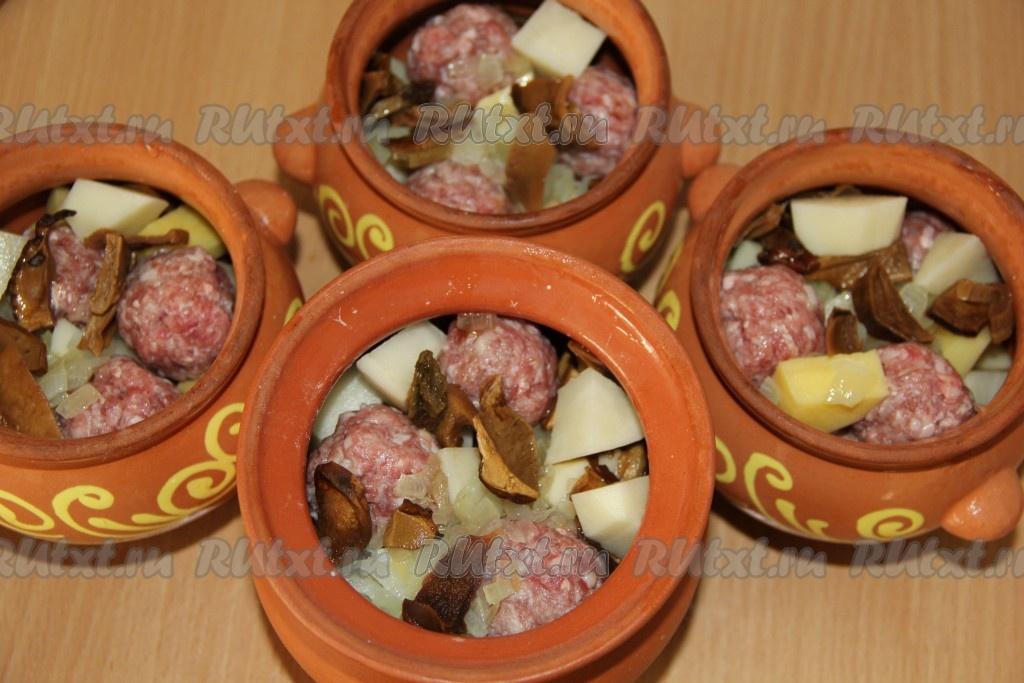 Белые грибы в горшочке с картошкой рецепт 111