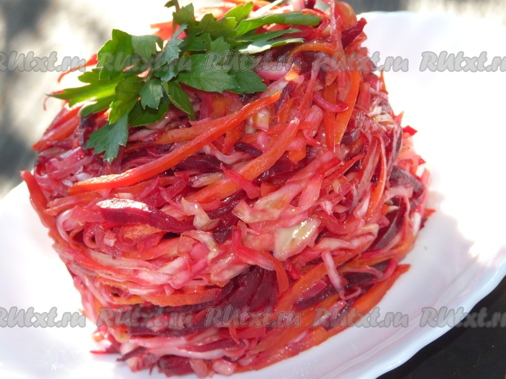 салат из свеклы и моркови свежей
