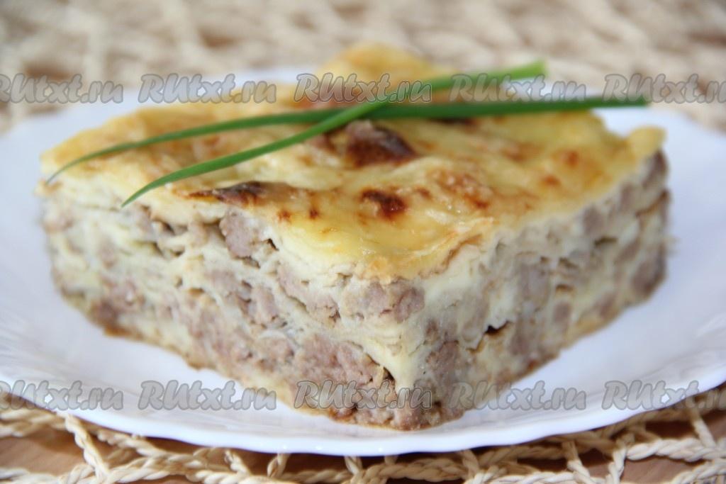 ленивая лазанья с лавашом рецепт с фото