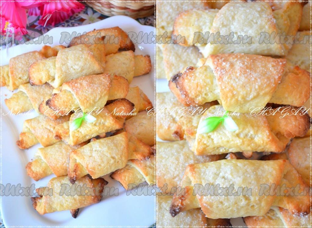 печенье рогалики из творога рецепт с фото
