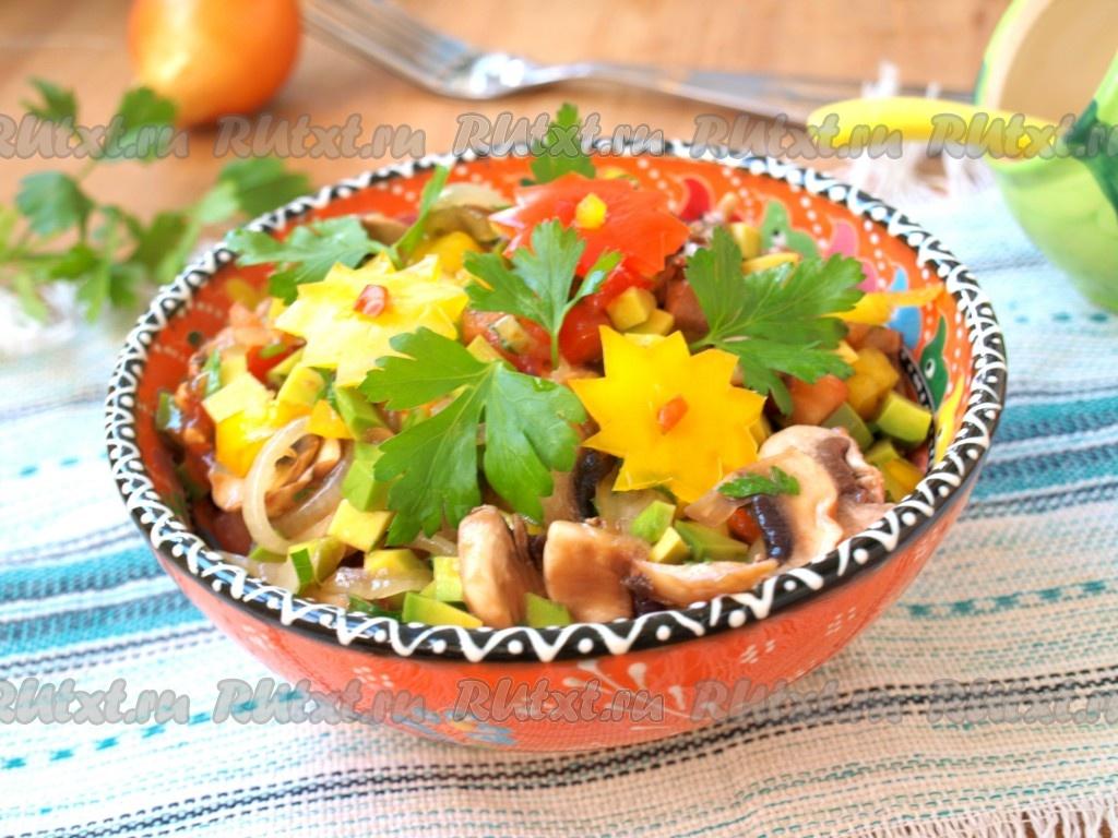 Вкусный салат с авокадо фото