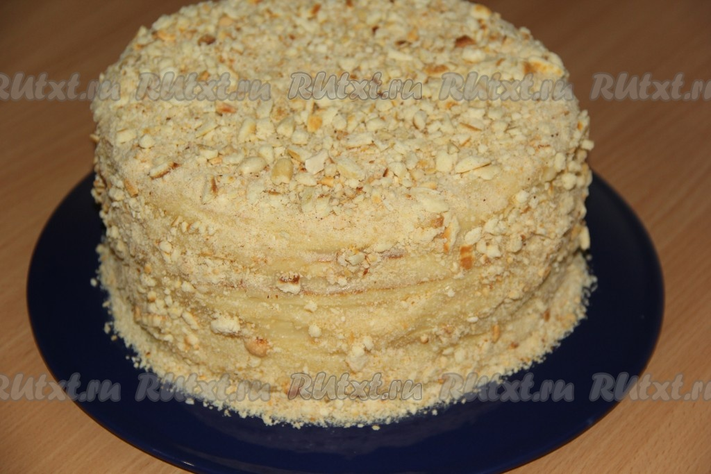 Торт на сковороде со сгущенкой рецепт