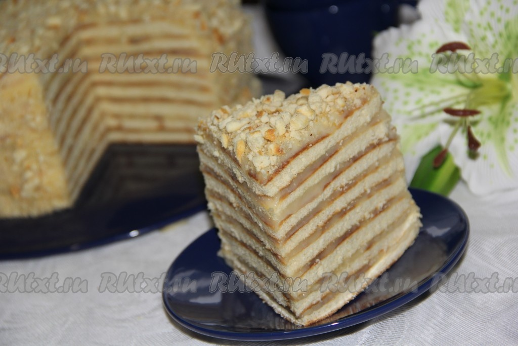 как приготовить обливной торт на сковороде