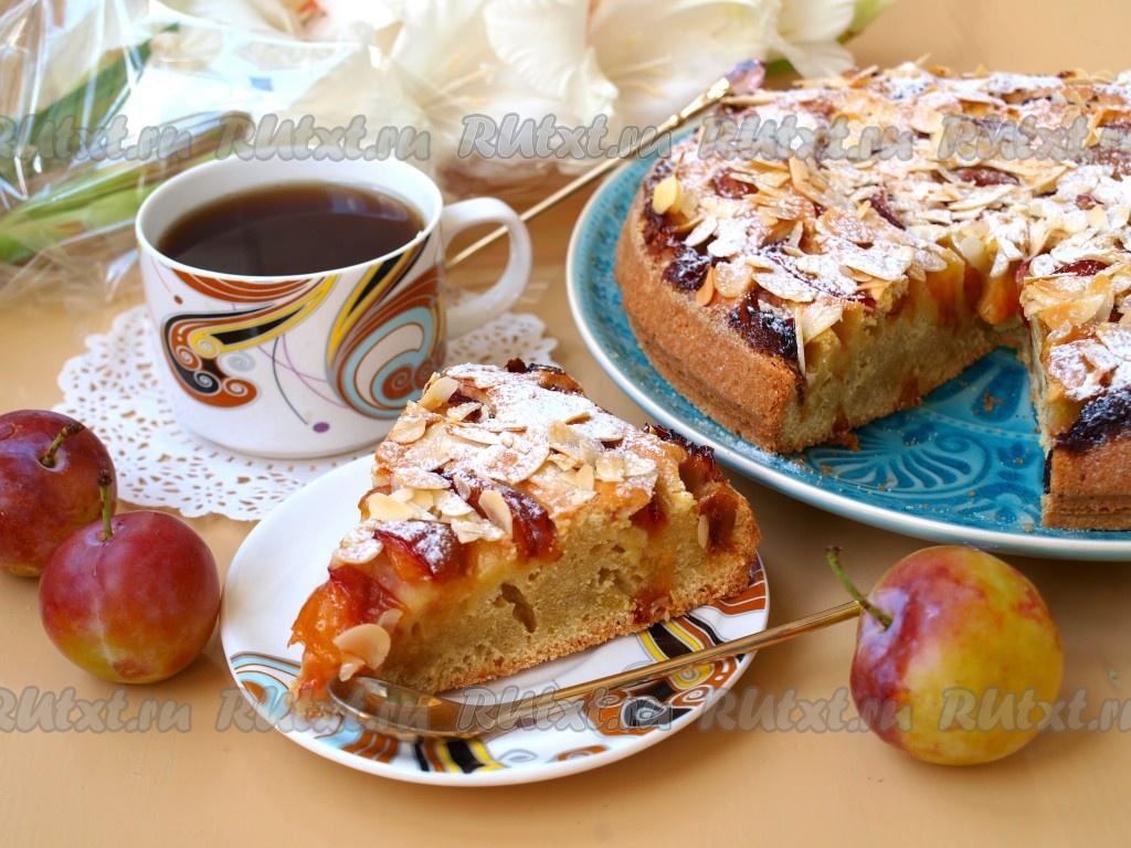 Обои пирог, сливы, сливовый, кофе, выпечка. Еда foto 18