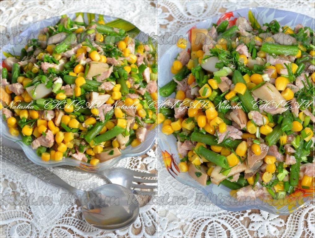 Стручковая фасоль яйца рецепты салатов