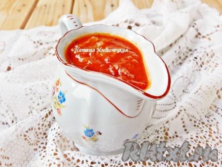 Томатный соус для спагетти, приготовленный из помидоров, получается невероятно вкусным и ароматным.