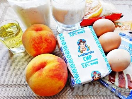 пирог с персиками свежими в духовке рецепт