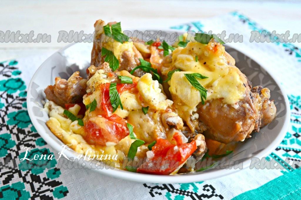 мясо курицы в духовке рецепты с сыром
