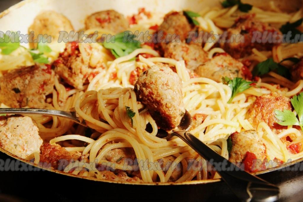 рецепт приготовления спагетти с фрикадельками