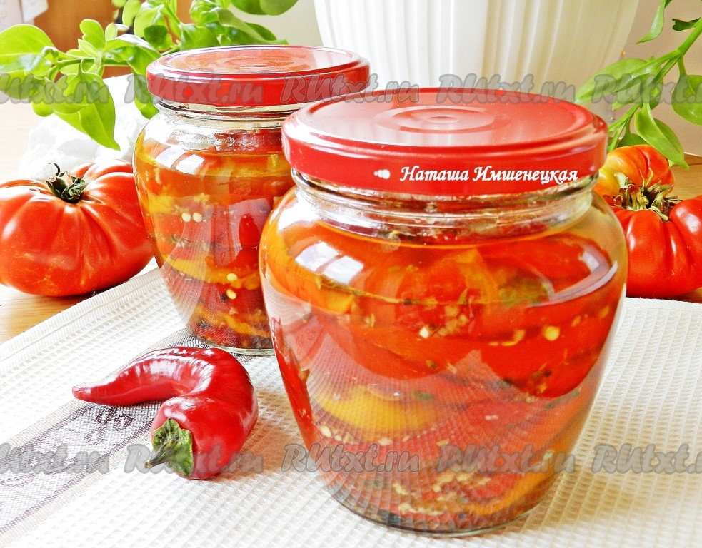 перец болгарский масле в на зиму рецепты с фото