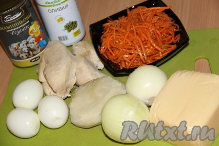 Салат Ёжик с корейской морковкой