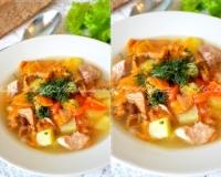 сырный суп с лисичками и курицей рецепт