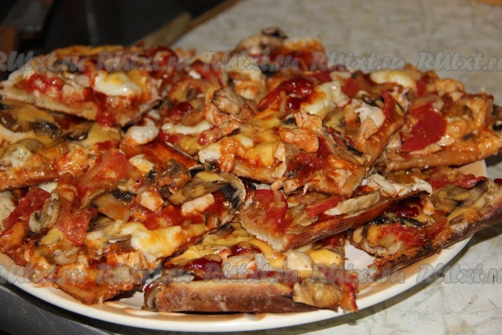 рецепты приготовления пиццы в домашних