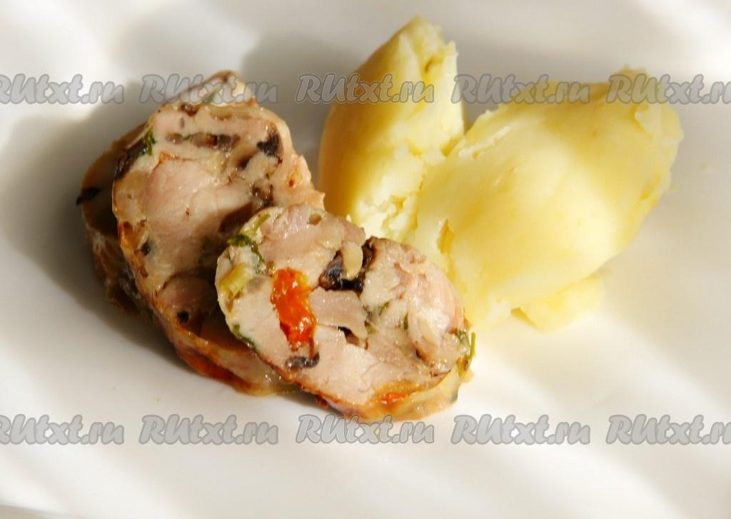 фаршированные куриные ножки с грибами в духовке рецепт