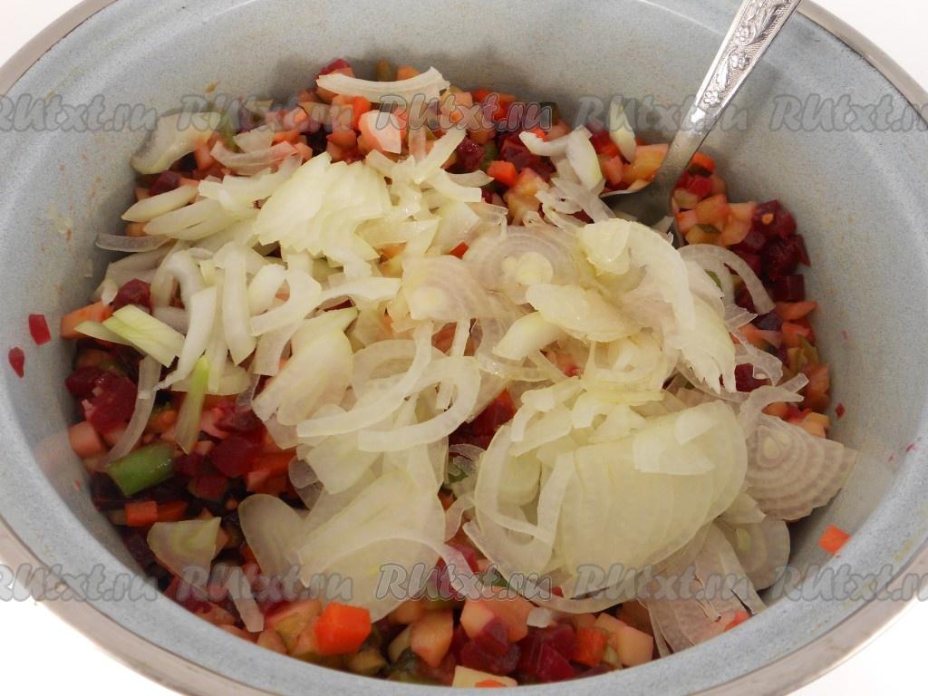 Винегрет рецепт со свежей капустой классический пошаговый рецепт с