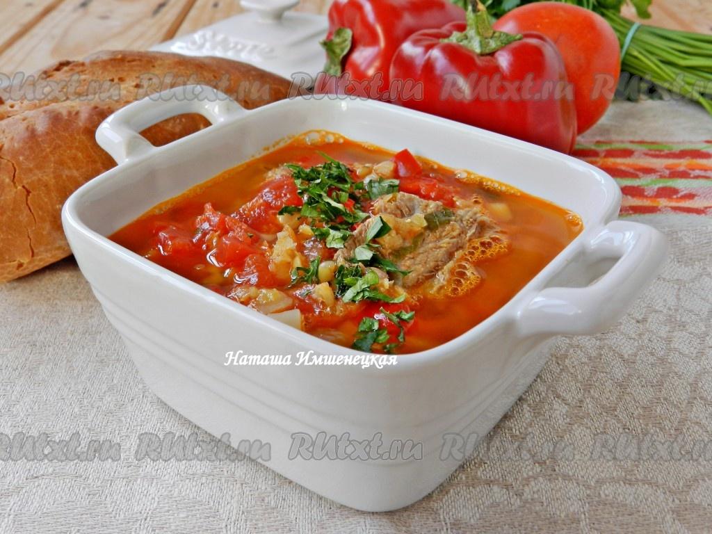 Рецепт суп из чечевицы с мясом