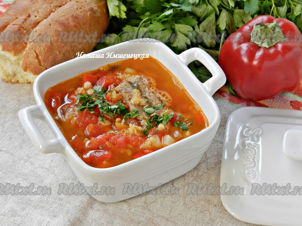 рецепт суп из фасоли с говядиной рецепт