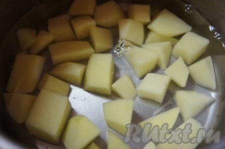 Варим картофель для супа до полуготовности