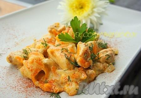 Подавать подливу из курицы горячей, как отдельное блюдо, украсив зеленью. Отлично подойдёт и к любому гарниру на ваш выбор. Приятного аппетита! Кушайте с удовольствием!