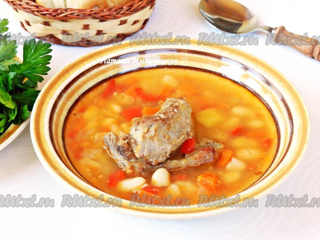 суп со свининой и фасолью рецепты с фото