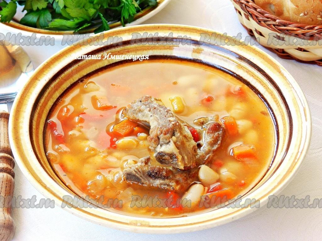 Вкусный суп со свининой