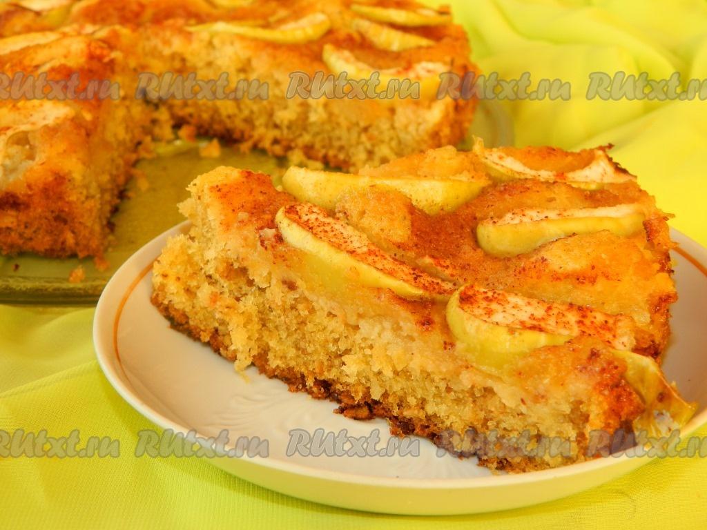 яблочный пирог с овсяными хлопьями с фото