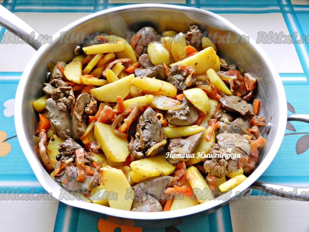 Рецепты с куриной печенью в духовке