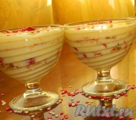 Десерт с апельсиновым заварным кремом получается очень вкусным и нежным.