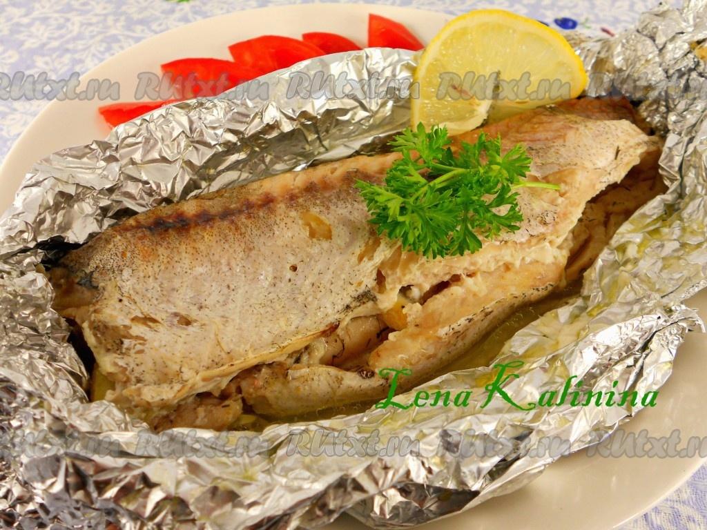 Рыба хек запеченная в духовке в фольге