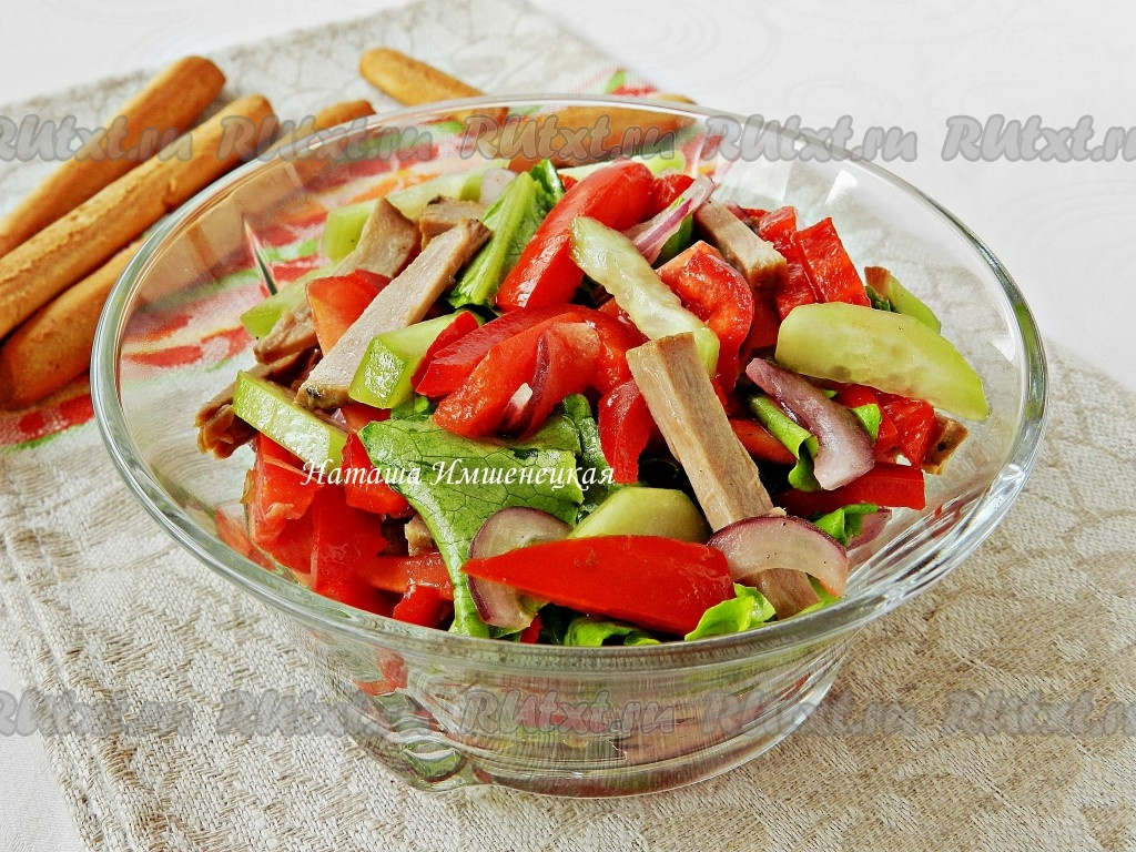 горячий салат с говядиной и овощами рецепт