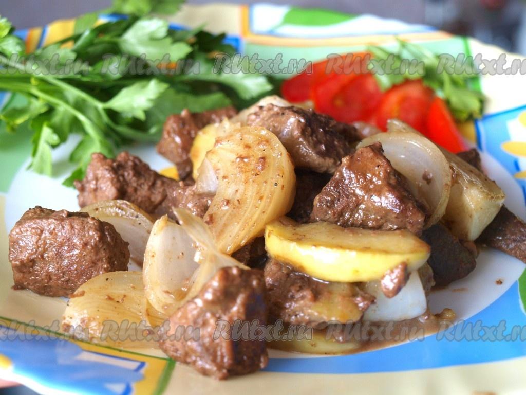 Рецепт приготовления блюда из печени свиной