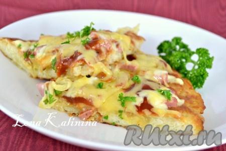 Пицца на картофельной основе на сковороде - рецепт пошаговый с фото