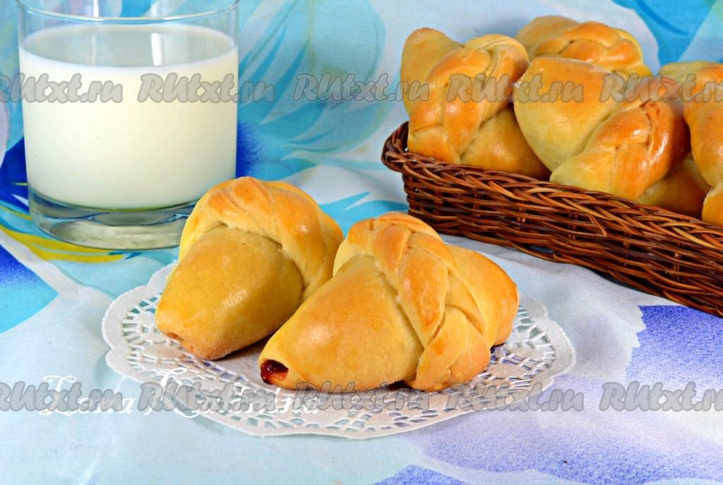 Дрожжевые булочки с повидлом рецепт с фото пошагово - 1000 ...