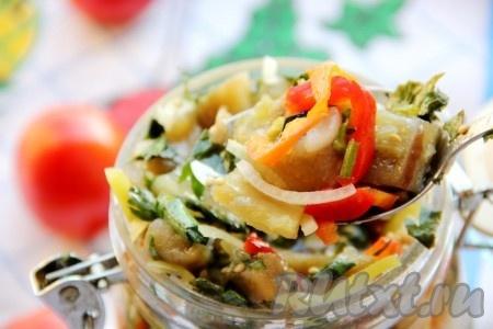 Храним эту замечательную закуску в холодильнике. Как видите, по этому рецепту маринованные баклажаны готовятся очень быстро, а их пикантный вкус вам точно понравится.