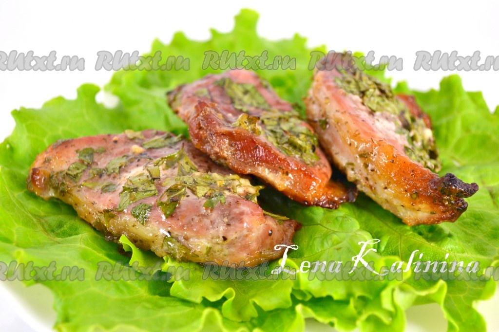 Стейки свинины в духовке рецепты с фото