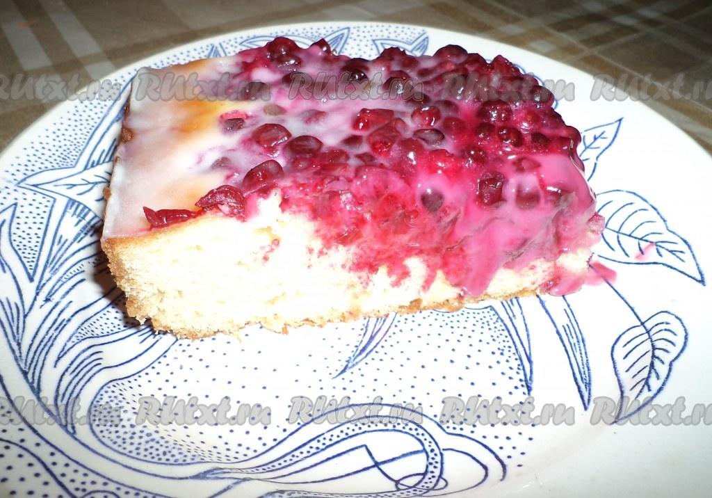 Пирог с брусничным вареньем рецепт с фото